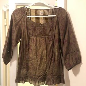 Pretty peasant blouse from Anthropologie.
